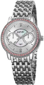 August Steiner Womens Silver Tone Strap Watch-As-8228ss