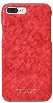 Aspinal of London   Iphone 7 Plus Leather Cover In Dahlia Saffiano   Dahlia saffiano