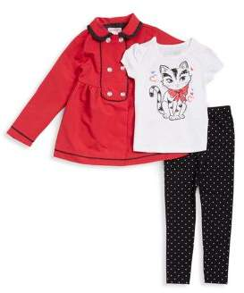Flapdoodles Little Girl's Three-Piece Tee, Jacket and Leggings Set