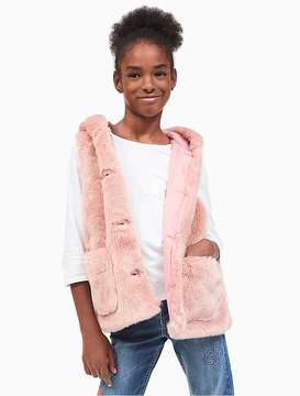 Calvin Klein Jeans Girls Faux Fur Vest