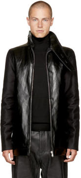 Rick Owens Black Bound Brother Plain Jacket