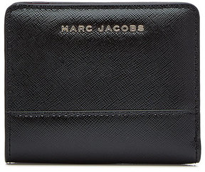 Marc Jacobs Mini Compact Leather Wallet - BLACK - STYLE