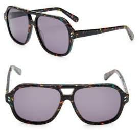 Stella McCartney 55MM Aviator Sunglasses