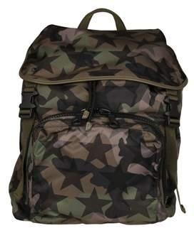 Valentino Men's Green Polyamide Backpack.