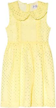 Rachel Riley Yellow Foil Dot Frill Dress