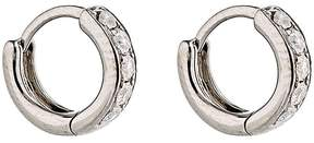 Eva Fehren Women's Grey Diamond Huggie Hoops