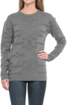 Pendleton Tonal Textured Sweater - Merino Wool, Crew Neck (For Women)