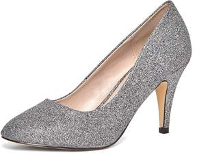 Dorothy Perkins Pewter Glitter 'Claudia' Court Shoes