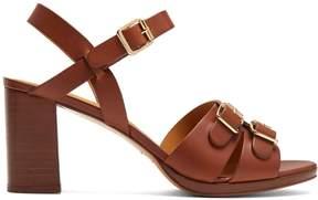 A.P.C. Tess block-heel leather sandals