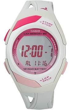 Casio Ladies' White 60-Lap Sports Watch