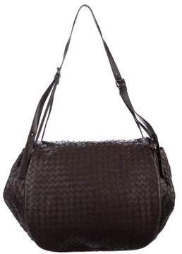 Bottega Veneta Intrecciato Leather Flap Bag