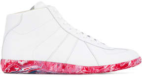 Maison Margiela White Replica Hi Top Sneakers