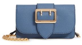 Burberry Mini Buckle Leather Bag - Blue - BLUE - STYLE