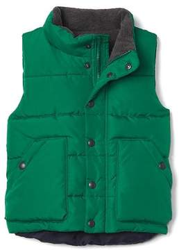 Gap Quilted fleece-lined vest