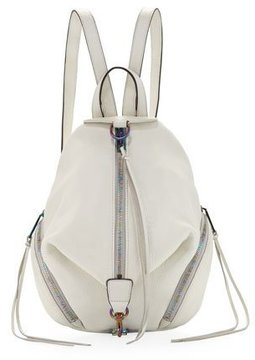 Rebecca Minkoff Julian Medium Leather Backpack - WHITE - STYLE