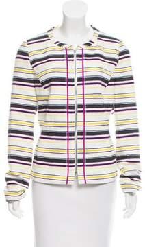 Basler Collarless Stripe Jacket w/ Tags