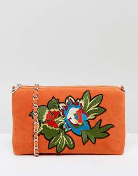 Glamorous Embroidered Velvet Cross Body Bag