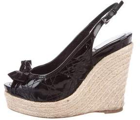 Christian Dior Cannage Wedge Espadrilles