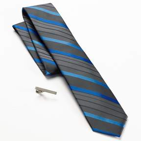 Apt. 9 Abaco Striped Skinny Tie & Tie Bar Set - Men
