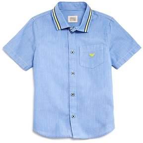 Armani Junior Boys' Short-Sleeve Button Down - Little Kid, Big Kid