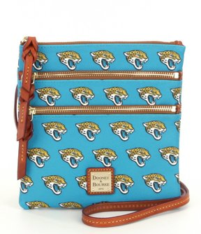 Dooney & Bourke NFL Collection Jacksonville Jaguars Triple-Zip Cross-Body Bag - TURQUOISE - STYLE
