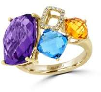 Effy Mosaic 14K Yellow Gold and Multi-Colored Stone Ring