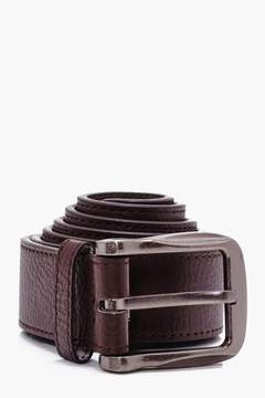 boohoo Big And Tall Brown PU Belt