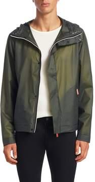Hunter Men's Solid Hooded Rain Jacket
