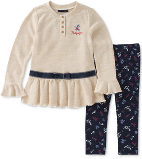 Tommy Hilfiger 2-Pc. Ruffle Tunic & Leggings Set, Toddler Girls (2T-5T)