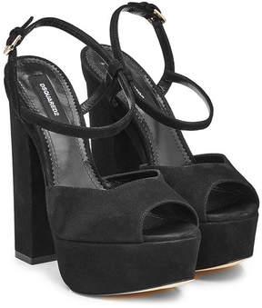DSQUARED2 Suede Platform Sandals
