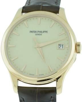 Patek Philippe Calatrava 18K Rose Gold Mens 39mm Watch