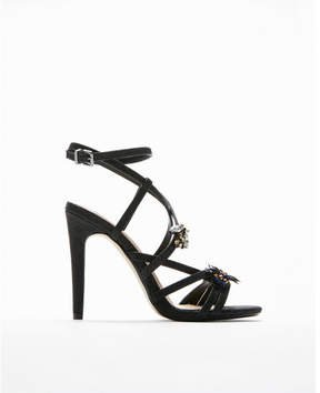 Express embellished strappy heeled sandals