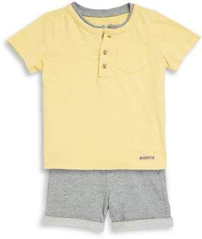 Hudson Baby Boy's Two-Piece Cotton Henley and Shorts Set