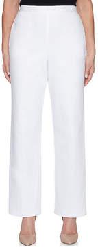 Alfred Dunner Sun City Woven Flat Front Pants