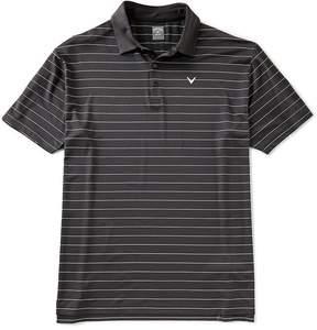 Callaway Golf Big & Tall Opti-Vent Stripe Short-Sleeve Polo Shirt