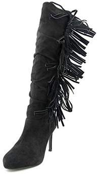 Thalia Sodi Alma Women Round Toe Canvas Knee High Boot.