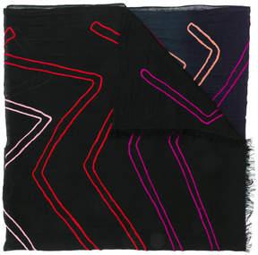 Paul Smith zig-zag stripe scarf