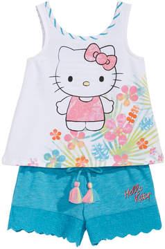 Hello Kitty Baby Girls 2-Pc. Graphic-Print Tank Top & Shorts Set
