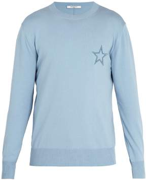 Givenchy Star-embroidered cotton sweater
