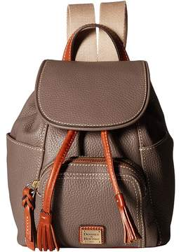 Dooney & Bourke Pebble Small Murphy Backpack Backpack Bags - ELEPHANT/TAN TRIM - STYLE