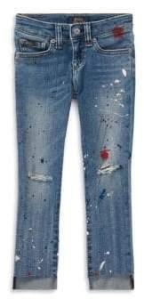 Ralph Lauren Little Girl's& Girl's Paint Splat Denim Pants