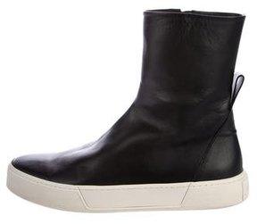 Balenciaga Leather Sneaker Boots
