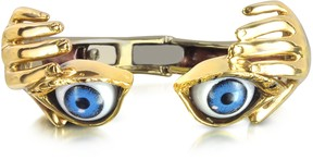 Forzieri Bernard Delettrez Bronze Hand Stiff Bracelet With Eye