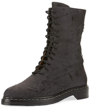 The Row Fara Distressed Lace-Up Boot