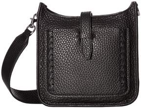 Rebecca Minkoff Mini Unlined Feed Bag with Whipstitch Handbags - BLACK - STYLE