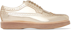 Church's Opal Mirrored-leather Brogues - Gold