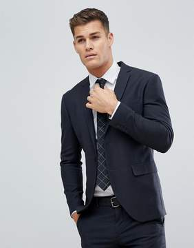 Jack and Jones Slim Suit Jacket In Texture