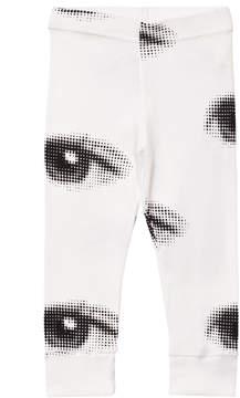 Nununu White Eye Print Leggings