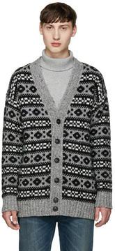 Marc Jacobs Grey Oversized Icelandic Cardigan