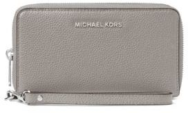 MICHAEL MICHAEL KORS Leather Zip-Around Wristlet